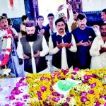 Zila Nazim Peshawar Muhammad Aasim Dua on Mazar of Abdul Rehman Baba Annual Urs 2017