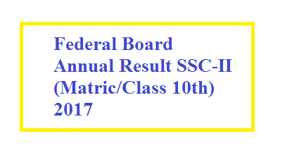 Federal Board Result SSC-II 2017