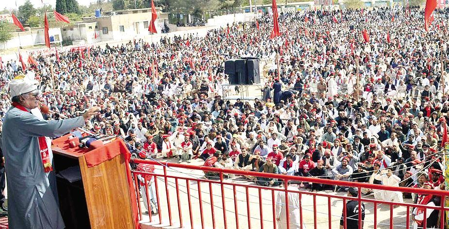 ANP Pishin Jalsa e aam in Balochistan - Asfandyar Wali Khan Address on 27-10-2017