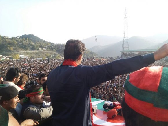 Imran Khan addressing massive rally in Upper Dir today on 27 Oct 2017