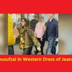 Malala Yousufzai in Western Dress of Jeans in London