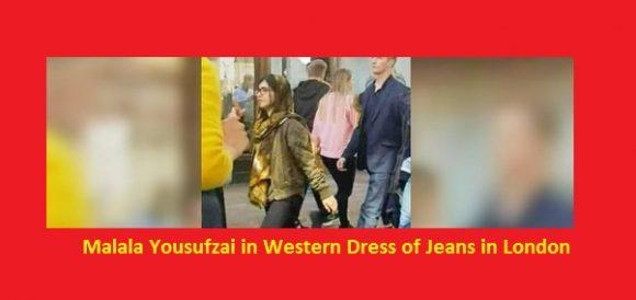 Malala Yousufzai in Western Dress of Jeans in London