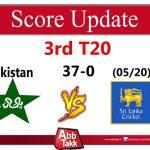 Pakistan Score 37-0 in 5 Overs