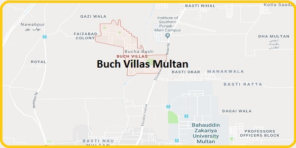 Buch Villas Multan Bosan Road Near DHA and BZU - Location Map for Food Festival 2017
