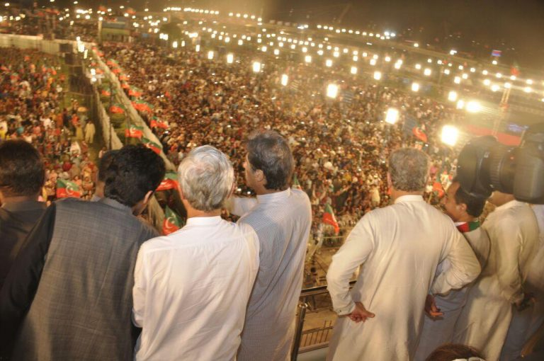 PTI Jalsa Lahore Pics - Imran Khan and Jahangeer Tareen - PTI's Boys and Girls will also join.