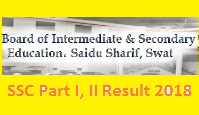 BISE Swat Board SSC Matric Result 2018 Online - Class 9th and Class 10th