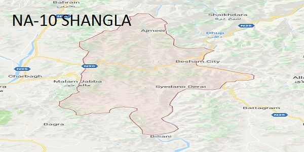 NA-10 Shangla Google Location Map Election 2018 National Assembly Constituency (Halqa)-mi-