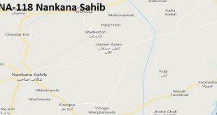 NA 118 Nankana Sahib Google Area Location Map Election 2018 National Assembly constituency (Halqa)-min