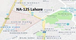 NA 125 Lahore Google Area Locaiton Map Election 2018 National Assembly constituency (Halqa)-min