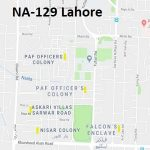 NA 129 Lahore Google Area Location Map Election 2018 National Assembly constituency (Halqa)-min