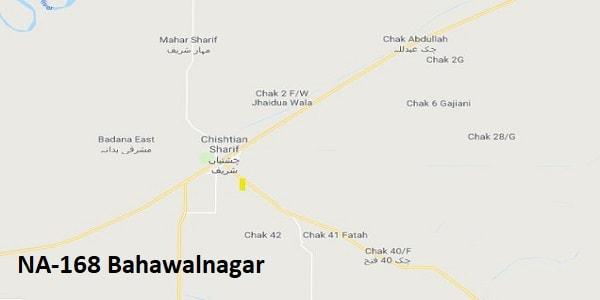 NA 168 Bahawalnagar Google Area Location Map Election 2018 National Assembly constituency (Halqa)-min