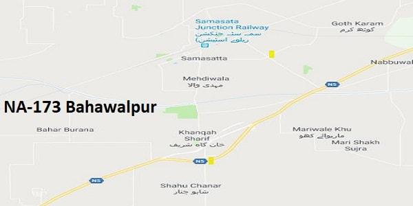 NA 173 Bahawalpur Google Area Location Map Election 2018 National Assembly constituency (Halqa)-min