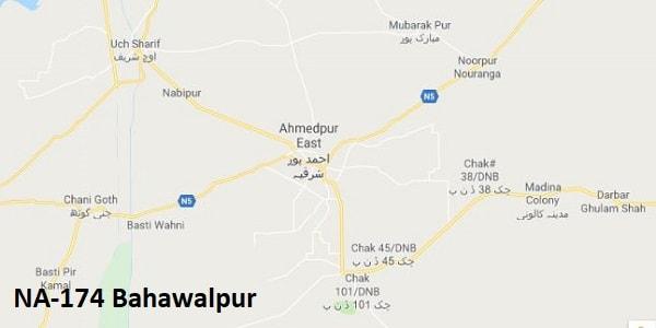 NA 174 Bahawalpur Google Area Location Map Election 2018 National Assembly constituency (Halqa)-min