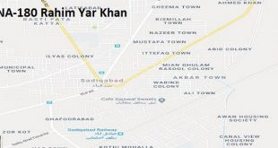 NA 180 Rahim Yar Khan Google Area Location Map Election 2018 National Assembly constituency (Halqa)-min