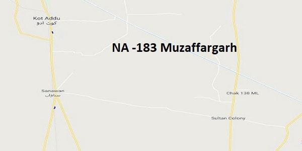 NA 183 Muzaffargarh Google Area Location Map Election 2018 National Assembly constituency (Halqa)-min