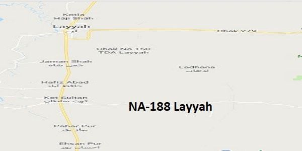 NA 188 Layyah Google Area Location Map Election 2018 National Assembly constituency (Halqa)-min