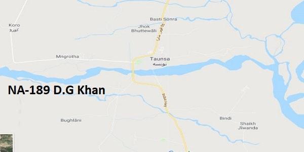NA 189 D.G Khan Google Area Location Map Election 2018 National Assembly constituency (Halqa)-min