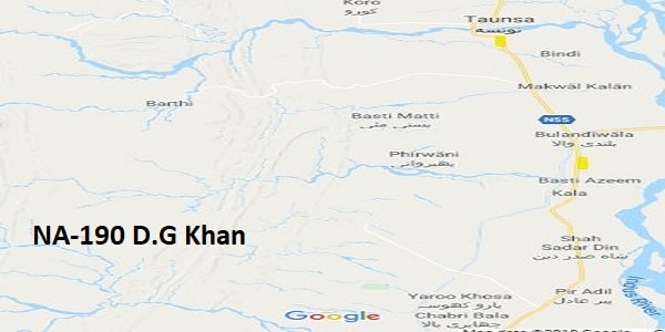 NA 190 D.G Khan Google Area Location Map Election 2018 National Assembly constituency (Halqa)-min
