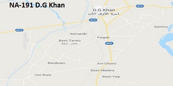 NA 191 D.G Khan Google Area Location Map Election 2018 National Assembly constituency (Halqa)-min