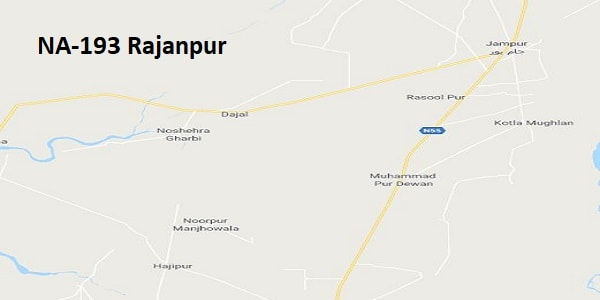 NA 193 Rajanpur Google Area Location Map Election 2018 National Assembly constituency (Halqa)-min