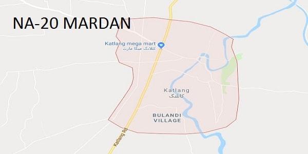 NA-20 Mardan Google Area Locaton Map Election 2018 National Assembly Constituency (Halqa)-min