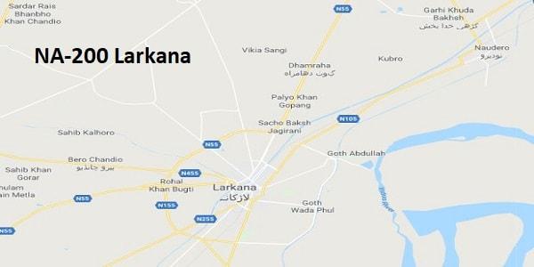 NA 200 Larkana Google Area Location Map Election 2018 National Assembly constituency (Halqa)-min