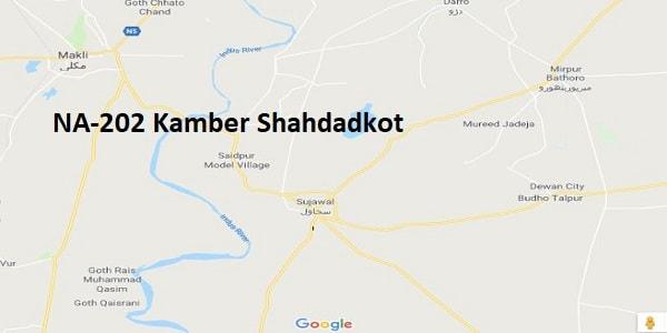 NA 202 Kamber Shahdadkot Google Area Location Map Election 2018 National Assembly constituency (Halqa)-min