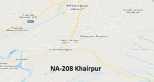 NA 208 Khairpur Google Area Location Map Election 2018 National Assembly constituency (Halqa)-min