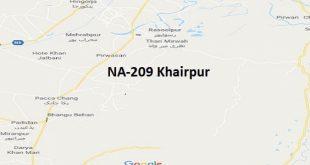 NA 209 Khairpur Google Area Location Map Election 2018 National Assembly constituency (Halqa)-min