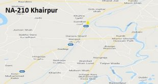 NA 210 Khairpur Google Area Location Map Election 2018 National Assembly constituency (Halqa)-min