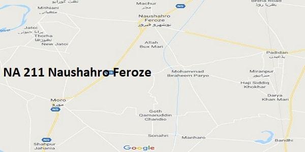 NA 212 Naushahro Feroze Google Area Location Map Election 2018 National Assembly constituency (Halqa)-min