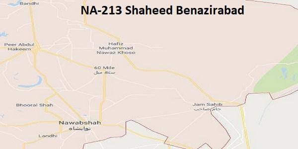 NA 213 Shaheed Benazirabad Google Area Location Map Election 2018 National Assembly constituency (Halqa)-min