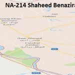 NA 214 Shaheed Benazirabad Google Area Location Map Election 2018 National Assembly constituency (Halqa)-min