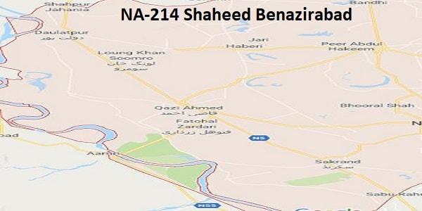 NA 214 Shaheed Benazirabad Google Area Location Map Election 2018 National Assembly constituency (Halqa)-min