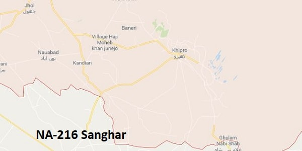 NA 216 Sanghar Google Area Location Map Election 2018 National Assembly constituency (Halqa)-min