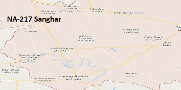 NA 217 Sanghar Google Area Location Map Election 2018 National Assembly constituency (Halqa)-min