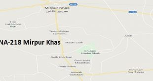 NA 218 Mirpur Khas Google Area Location Map Election 2018 National Assembly constituency (Halqa)-min