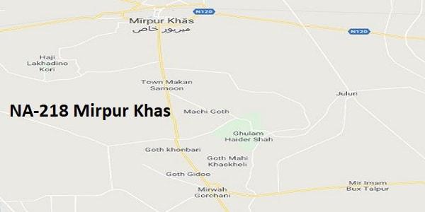 NA 218 Mirpur Khas Google Area Location Map Election 2018 National Assembly constituency (Halqa)-min