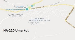 NA 220 Umarkot Google Area Location Map Election 2018 National Assembly constituency (Halqa)-min