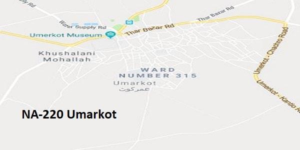 NA 220 Umarkot Google Area Location Map Election 2018 National Assembly constituency (Halqa)-min