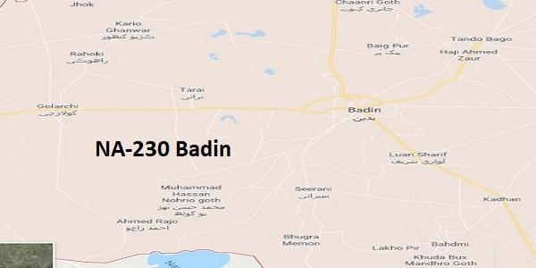 NA 230 Badin Google Area Location Map Election 2018 National Assembly constituency (Halqa)-min