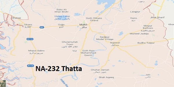 NA 232 Thatta Google Area Location Map Election 2018 National Assembly constituency (Halqa)-min