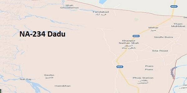 NA 234 Dadu Google Area Location Map Election 2018 National Assembly constituency (Halqa)-min