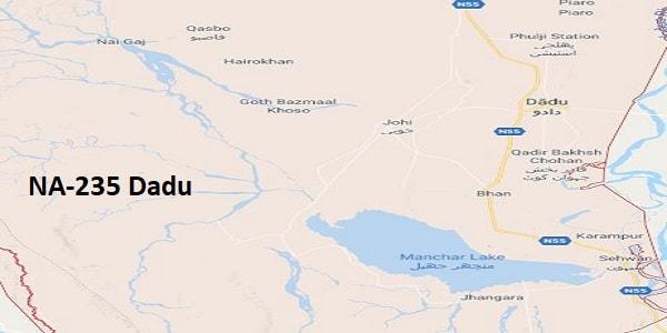 NA 235 Dadu Google Area Location Map Election 2018 National Assembly constituency (Halqa)-min
