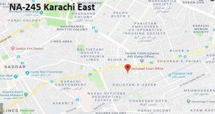 NA 245 Karachi East Google Area Location Map Election 2018 National Assembly constituency (Halqa)-min