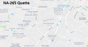 NA 265 Quetta Google Area Location Map Election 2018 National Assembly constituency (Halqa)-min