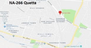 NA 266 Quetta Google Area Location Map Election 2018 National Assembly constituency (Halqa)-min