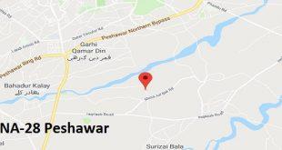 NA-28 Peshawar Google Area Locaton Map Election 2018 National Assembly Constituency (Halqa)
