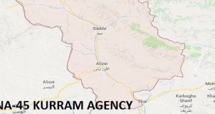 NA-45 Kurram Agency Google Area Locaton Map Election 2018 National Assembly Constituency (Halqa)-min