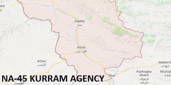 NA-45 Kurram Agency Google Area Locaton Map Election 2018 National Assembly Constituency (Halqa)-min